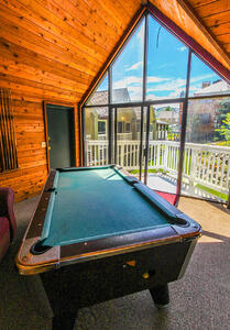 VRI Resorts' Skiers Lodge pool table with a gorgeous view